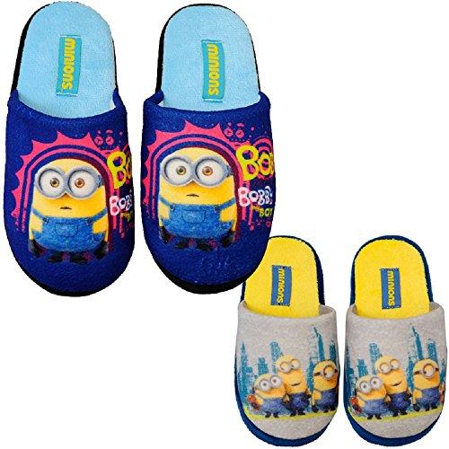 check out 25297 1393e MINIONS MINION Kinder Hausschuhe Pantoffeln Schuhe Gr. 27-34 Neu